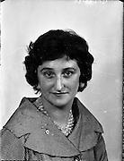 Eileen Davis at Lensmen office<br /> 20.04.1961
