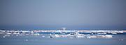Fata Morgana, or superior mirage, Nares Strait, off the coast of Arctic Greenland.