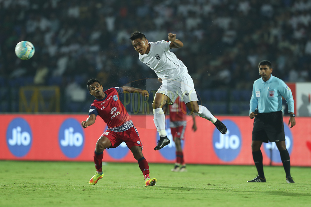Lalrindika Ralte of Northeast United FC during match 2 of the Hero Indian Super League between NorthEast United FC and Jamshedpur FC held at the Indira Gandhi Athletic Stadium, Guwahati India on the 18th November 2017<br /> <br /> Photo by: Ron Gaunt / ISL / SPORTZPICS