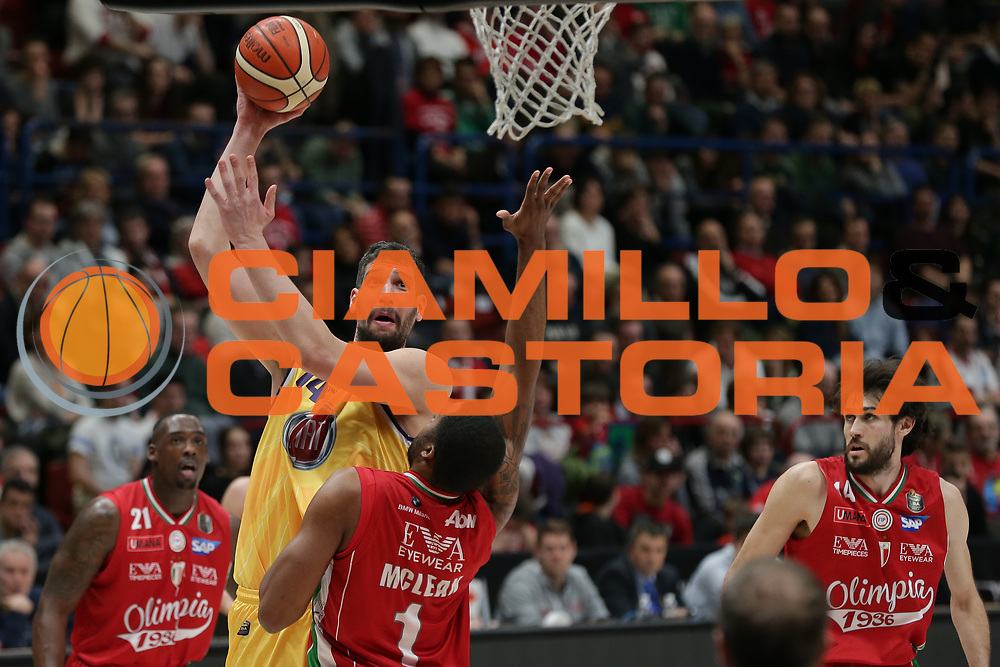 Cuccarolo Gino<br /> EA7 Olimpia Milano vs Auxilium Fiat Torino<br /> Lega Basket Serie A 2016/2017<br /> Milano 05/03/2017<br /> Foto Ciamillo-Castoria/A. Gilardi