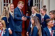Koning en minister-president ontvangen winnaar EK voetbal Vrouwen 2017