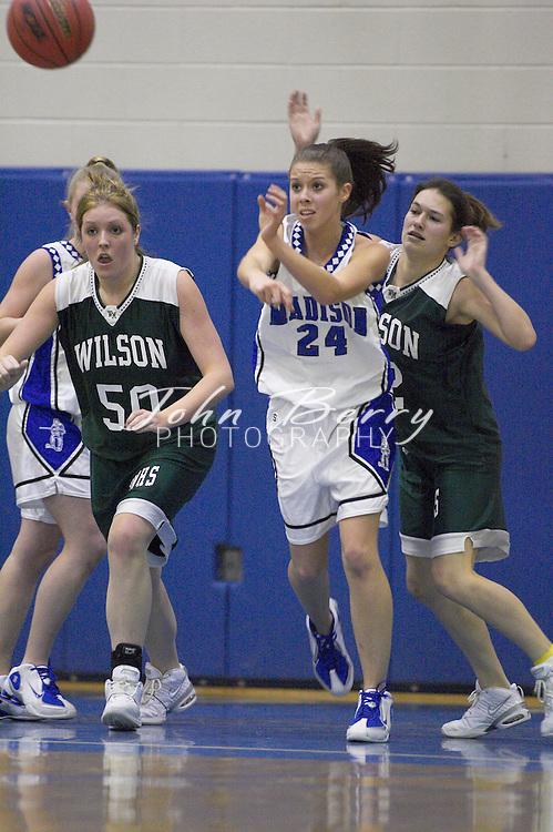 Varsity Girls Basketball..vs Wilson Memorial..January 18, 2005