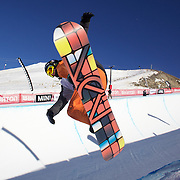 Morten Kleivdal, Norway,  in action during the Men's Half Pipe competition at the Burton New Zealand Open 2011 held at Cardrona Alpine Resort, Wanaka, New Zealand, 9th August 2011. Photo Tim Clayton