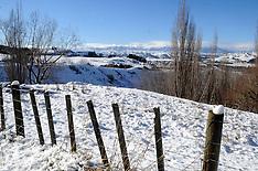 Waiouru-Snow causes traffic detours