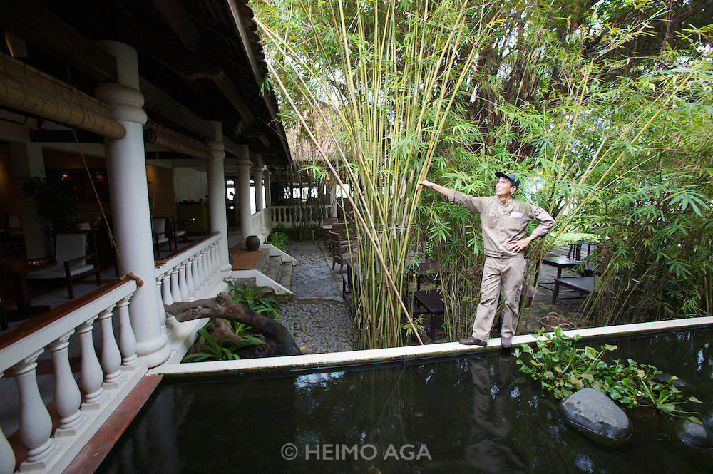 Evason Ana Mandara & Six Senses Spa ? Nha Trang. Fish pond at the lobby.