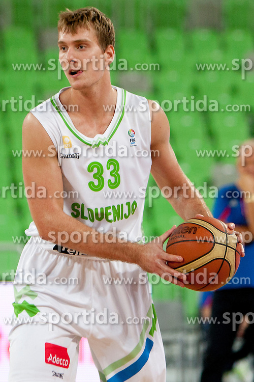 Zoran Dragic of Slovenia during friendly basketball match between National teams of Slovenia and Serbia of Adecco Ex-Yu Cup 2012 as part of exhibition games 2012, on August 5, 2012, in Arena Stozice, Ljubljana, Slovenia. (Photo by Matic Klansek Velej / Sportida)
