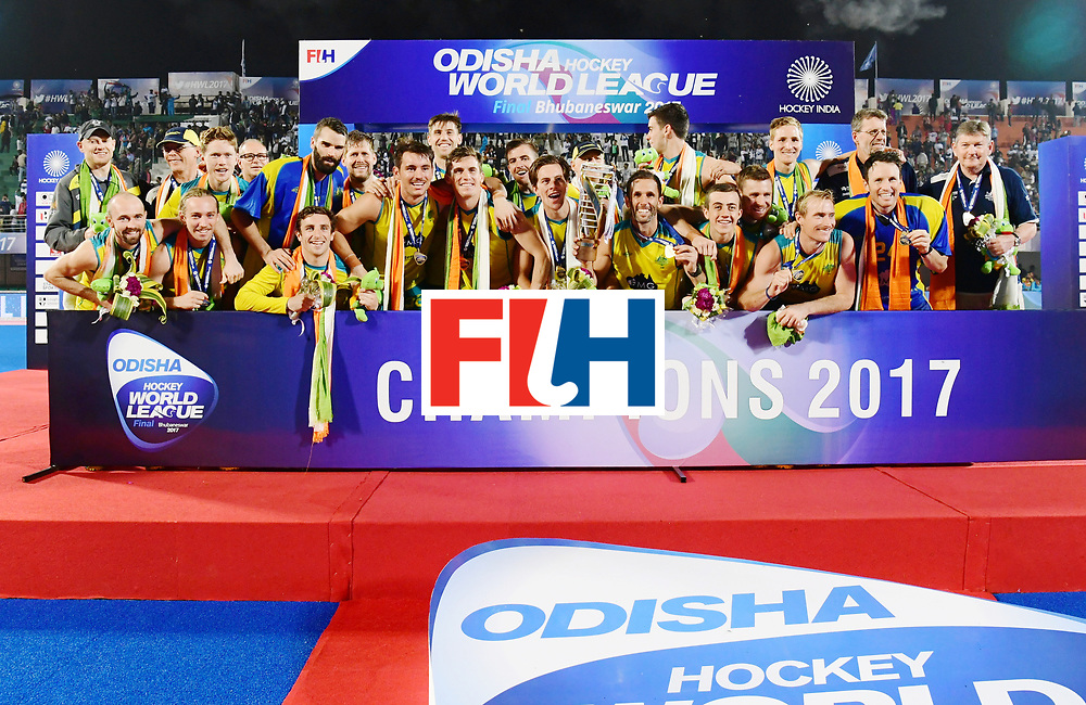 Odisha Men's Hockey World League Final Bhubaneswar 2017<br /> Match id:<br /> Ceremony<br /> Foto: Australia<br /> COPYRIGHT WORLDSPORTPICS FRANK UIJLENBROEK