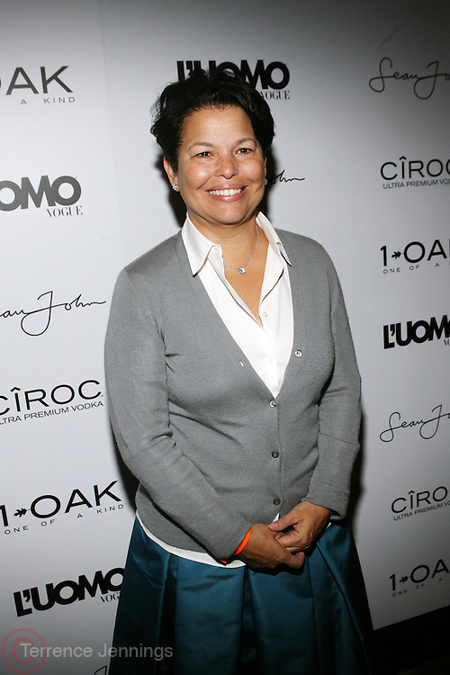 """Debra Lee at the cocktail party celebrating Sean """"Diddy"""" Combs appearance on the """" Black on Black """" cover of L'Uomo Vogue's October Music Issue"""