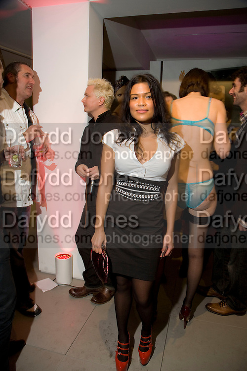 HERSHEY PASCUAL, A very Private Affair, Agent Provocateur in association with arena magazine. Spring/Summer collection party. Louise T. Blouin Foundation. 3 Olaf St. London. 1 April 2008. *** Local Caption *** -DO NOT ARCHIVE-© Copyright Photograph by Dafydd Jones. 248 Clapham Rd. London SW9 0PZ. Tel 0207 820 0771. www.dafjones.com.