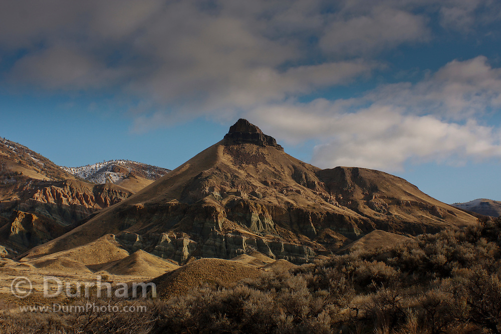 Sheep Rock within the John Day Fossil Beds National Monument, Oregon.