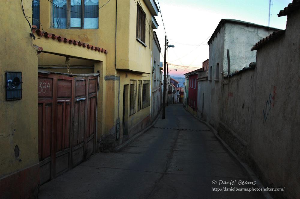 Potosi street at dawn