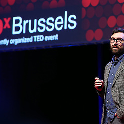 Session I - 28 October 2013<br /> <br /> Scott Thomas , Design Director for Obama&rsquo;s 2008 campaign 'YES we can&quot;<br /> <br /> TEDX BRUSSELS 2013 - Belgium - Brussels - October 2013 &copy; TEDx Brussels/Scorpix