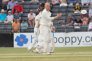 Callum Parkinson bowling during the Specsavers County Champ Div 2 match between Gloucestershire County Cricket Club and Leicestershire County Cricket Club at the Cheltenham College Ground, Cheltenham, United Kingdom on 17 July 2019.