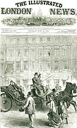 Attempted assassination of Wilhelm I, Emperor of Germany by Karl Edward Nobiling, seen firing a rifle from an upstairs window. From 'The Illustrated London News', London, 15 June 1878.