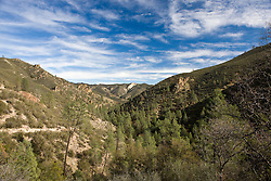 Landscape view from Balconies Cliffs Trail, Pinnacles National Monument, California, United States of America
