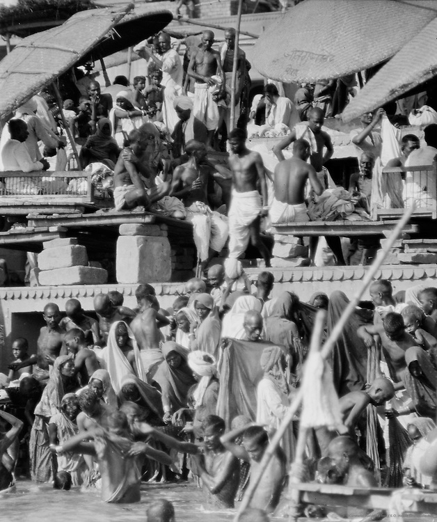 Bathing Scenes, Benares, India, 1929