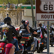 Members of the Czech Route 66 Association at the Polk-a-Dot drive on the historic U.S. Route 66. The Mother Road starts in Chicago traveling through 6 states and ending in Santa Monica, California.<br /> Photography by Jose More