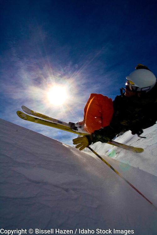 justus meyer backcountry skiing in wyoming
