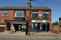Shops in Thornley; ex pit village; County Durham; North East England