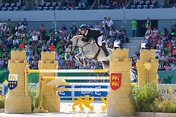 Bruce Goodin, (NZL), Centina 10 - First Round Team Competition Jumping Speed - Alltech FEI World Equestrian Games™ 2014 - Normandy, France.<br /> © Hippo Foto Team - Leanjo De Koster<br /> 03-09-14