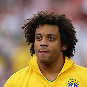 Marcelo, Brazil, during the USA V Brazil International friendly soccer match at FedEx Field, Washington DC, USA. 30th May 2012. Photo Tim Clayton