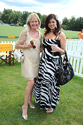 Left to right, DEBBIE MOORE and CHLOE MARSHALL at the 2008 Veuve Clicquot Gold Cup polo final at Cowdray Park Polo Club, Midhurst, West Sussex on 20th July 2008.<br /> <br /> NON EXCLUSIVE - WORLD RIGHTS