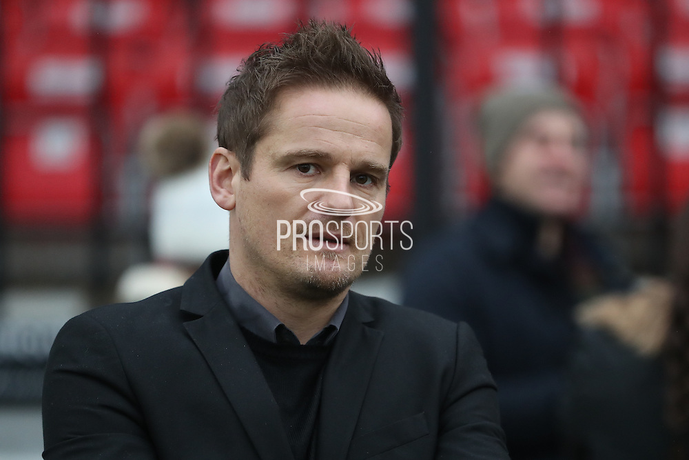 AFC Wimbledon manager Neal Ardley prior The FA Cup match between Sutton United and AFC Wimbledon at Gander Green Lane, Sutton, United Kingdom on 7 January 2017. Photo by Stuart Butcher.