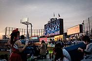 The Jingu Baseball Stadium in Tokyo before during a game Tokyo Swallows VS Hiroshima Carp, Japan. 21/04/2017-Tokyo, JAPAN