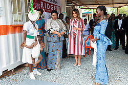 October 2, 2018 - Accra, Ghana, West Africa - First Lady Melania Trump and Rebecca Akufo-Addo, the First Lady of the Republic of Ghana meet with mothers and children in the Child Welfare Clinic, the original wing of the Greater Accra Regional Hospital in Accra, Ghana (Credit Image: ? Andrea Hanks/White House via ZUMA Wire/ZUMAPRESS.com)