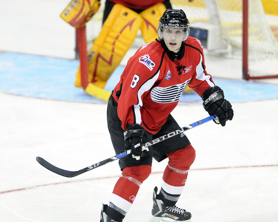 Shawn Lalonde of the Belleville Bulls competed in the 2008 CHL Canada-Russia Challenge and will also play in the 2009 SUBWAY Super Series. Photo by Aaron Bell/OHL Images.