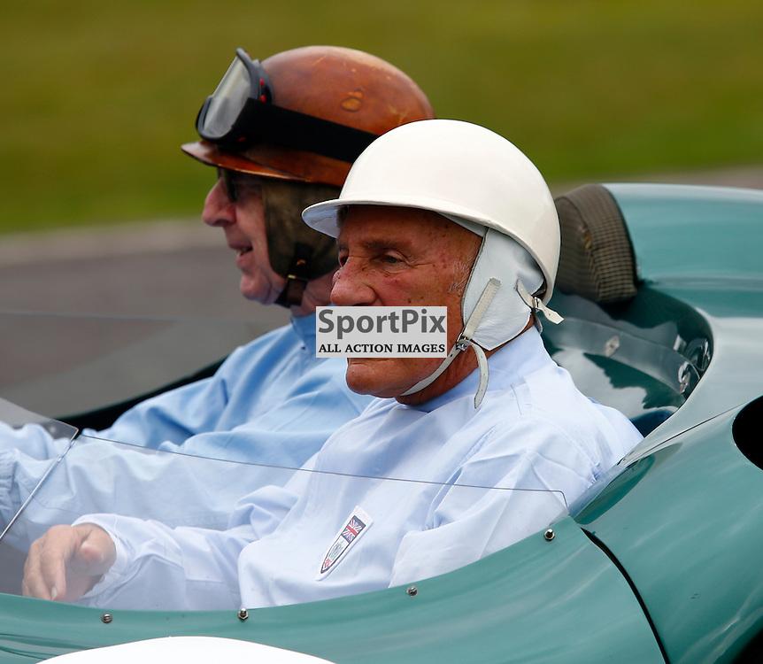 GOODWOOD REVIVAL....Sir Stirling Moss on demonstration laps....(c) STEPHEN LAWSON | SportPix.org.uk