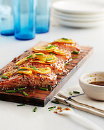 Mustard-Glazed Planked Salmon