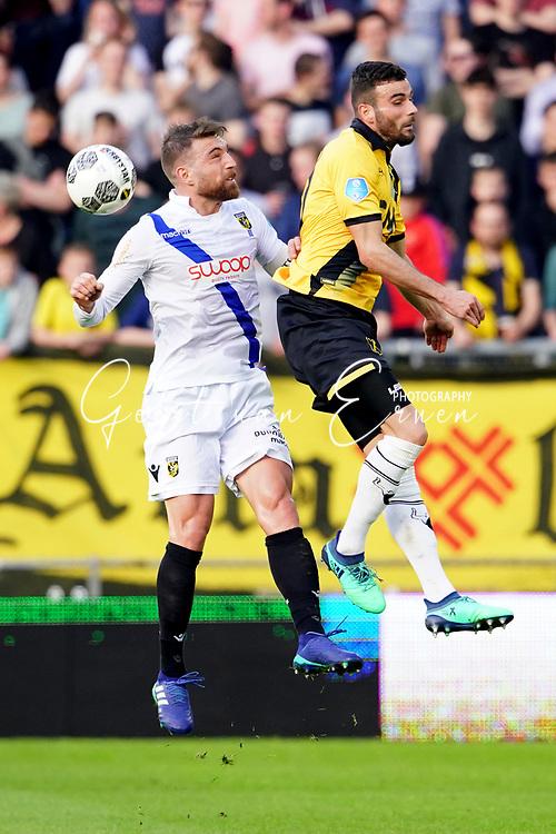 (L-R) *Guram Kashia* of Vitesse, *Rai Vloet* of NAC Breda