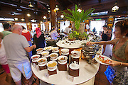 Malaysia, Langkawi. Meritus Pelangi Beach Resort & Spa. Breakfast buffet at Spice Market Restaurant.