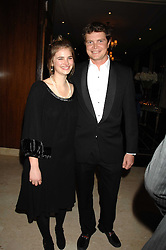 JACK KIDD and CALLIE MOORE at a dinner to promote the Holders Season in Barbados held at The Four Seasons Hotel, Hamilton Place, London W1 on 30th January 2008.<br /> <br /> NON EXCLUSIVE - WORLD RIGHTS (EMBARGOED FOR PUBLICATION IN UK MAGAZINES UNTIL 1 MONTH AFTER CREATE DATE AND TIME) www.donfeatures.com  +44 (0) 7092 235465