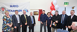 Pictured at the official opening of Mayo Mountain Rescue's headquarters at Pinewoods Westport last week were Cllr Teresa McGuire, Cllr Michael Holmes Cathaoirleach Mayo County Council, Shane McGuire MMRT Chairman, Minister of State Michael Ring TD, Jerome Hopkins Team Teader MMRT, Mary Walsh MMRT, Cllr Christy Hyland, Tom Gilligan and Martin Keating West Mayo Municipal Authority. <br /> Pic Conor McKeown