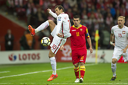 October 8, 2017 - Warsaw, Poland - Grzegorz Krychowiak of Poland in action during the FIFA World Cup 2018 Qualifying Round Group E match between Poland and Montenegro at National Stadium in Warsaw, Poland on October 8, 2017  (Credit Image: © Andrew Surma/NurPhoto via ZUMA Press)