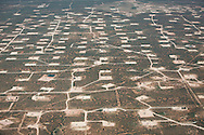 Aerial view of the 'OIl Patch' in Eddy County , part of the Permian Basin, revitalized by the fracking industry. Rumored to have more drilling pads then anywhere else in the country.