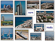 A collage of images from Haifa, Israel