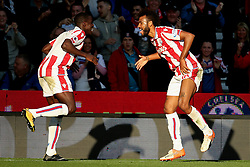Eric Maxim Choupo Moting of Stoke City celebrates after scoring his sides first goal - Mandatory by-line: Matt McNulty/JMP - 09/09/2017 - FOOTBALL - Bet365 Stadium - Stoke-on-Trent, England - Stoke City v Manchester United - Premier League
