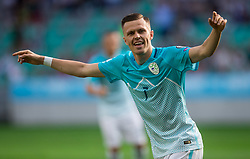 Josip Ilicic of Slovenia celebrates after scoring first goal during football match between National teams of Slovenia and Malta in Round #6 of FIFA World Cup Russia 2018 qualifications in Group F, on June 10, 2017 in SRC Stozice, Ljubljana, Slovenia. Photo by Vid Ponikvar / Sportida