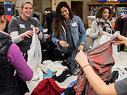 Student volunteers spent Martin Luther King Jr. Day serving the greater Spokane community at (Photo by Edward Bell)