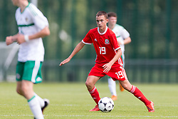 WREXHAM, WALES - Thursday, August 15, 2019: Wales' Luke Harris during the UEFA Under-15's Development Tournament match between Wales and Northern Ireland at Colliers Park. (Pic by Paul Greenwood/Propaganda)