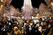 New York, New York. Etats Unis. 16 Decembre 2010.Rockefeller Center..New York, New York. United States. December 16th 2010.Rockefeller Center..