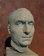 Sculpture of unknown man's head. Circa 240 AD. Made from Marble.