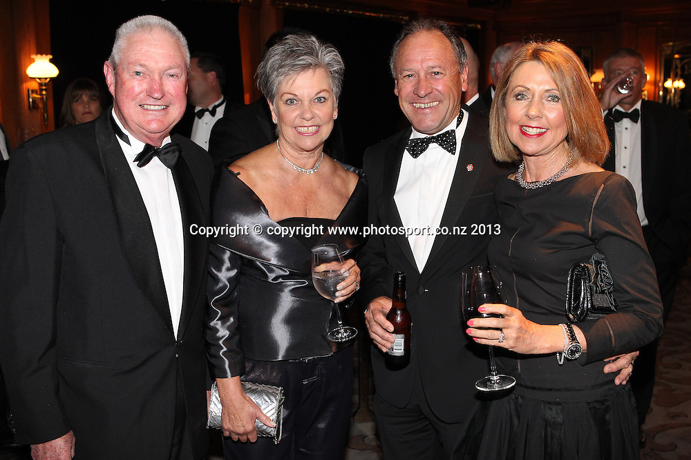 Bob and Kerry McMillan with Ralph and Pam Norris, right at the ASB cocktails during an evening with Americas Cup yachtsmen Sir Russell Coutts and Grant Dalton at The Langham, Auckland, Friday May 3, 2013 to raise funds for David Barnes and Rick Dodson who suffer from multiple sclerosis ands plan to compete in the 2016 Paralympics in Rio. Photo: Fiona Goodall/photosport.co.nz