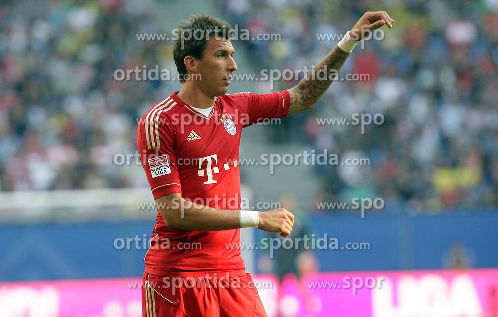 Football: Germany, Liga Total Cup, FC Bayern Muenchen, Hamburg, 04.08.2012.Mario MANDZUKIC.©Êpixathlon