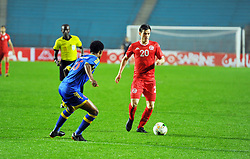 March 22, 2019 - Rades, Tunisia - Aymen ben Mahmoud(20) of Tunisia and Ndoluvo Mfanzile(15) during the Match Tunisia vs Eswatini at the Rades Olympic stadium in the last qualifying round of the 2019 African Nations Cup finals vs. Tun vs Eswatini 4/0. (Credit Image: © Chokri Mahjoub/ZUMA Wire)