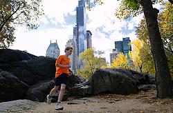 02-11-2013 ALGEMEEN: BVDGF NY MARATHON: NEW YORK <br /> Parcours verkenning en laatste training in het Central Park / Tijn<br /> ©2013-FotoHoogendoorn.nl