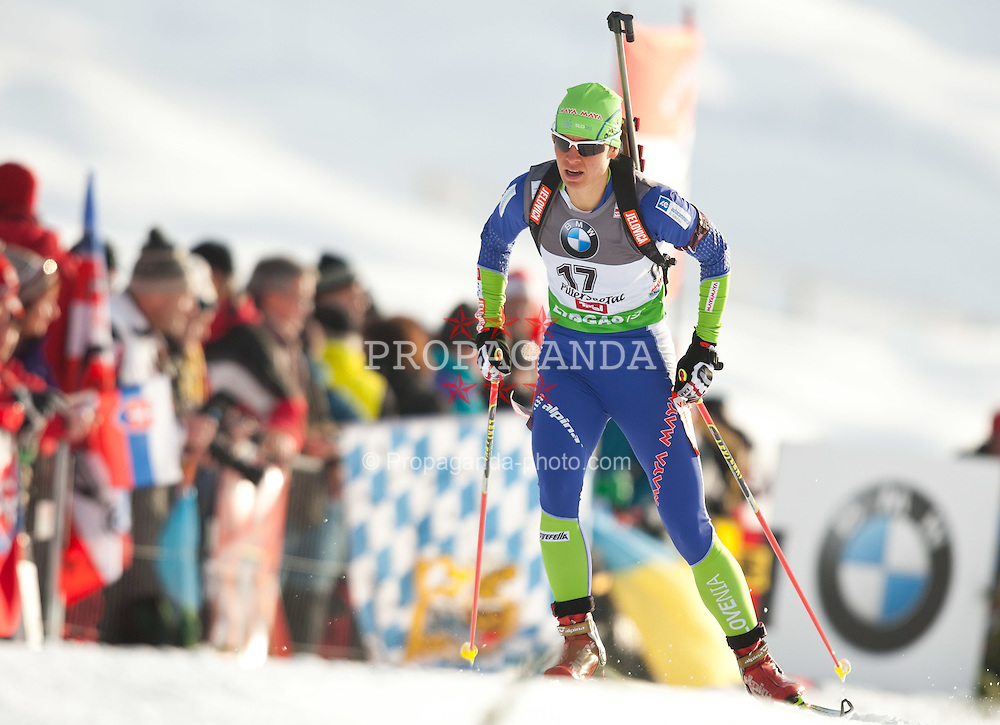 09.12.2011, Biathlonzentrum, Hochfilzen, AUT, E.ON IBU Weltcup, 2. Biathlon, Herren 10km Sprint, im Bild Teja Gregorin (SLO) // Teja Gregorin of Slovenia during men 10km Sprint at E.ON IBU Worldcup 2th Biathlon, Hochfilzen, Austria on 2011/12/09. EXPA Pictures © 2011, PhotoCredit: EXPA/ Johann Groder
